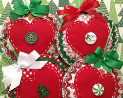 tree ornaments felt handmade ornaments set of 4