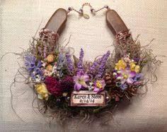 Personalized Horseshoe Scottish Tartan Wedding Horseshoe Outlander Inspired Scottish