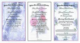 vow renewal ceremony program marriage vow renewal certificates for vow renewals
