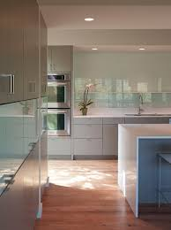 colored glass backsplash kitchen is that tempered glass backsplash and did they paint a color on
