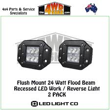 flush mount led lights 12v flush mount 24 watt flood beam recessed led work reverse light
