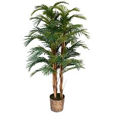 5 ft high end realistic silk palm tree with