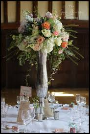 coral blush u0026 silver wedding flowers the fine flower company