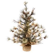 3ft pre lit dakota pine artificial tree in burlap base