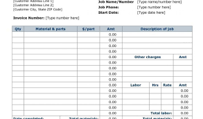 parts and labor invoice template free and parts invoice template