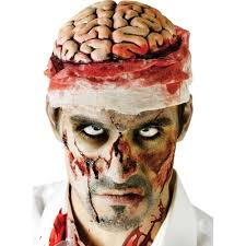 spirit halloween headquarters halloween zombie brain with bandage headpiece accessory