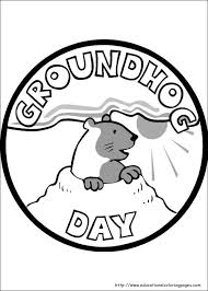 groundhog coloring pages educational fun kids coloring pages