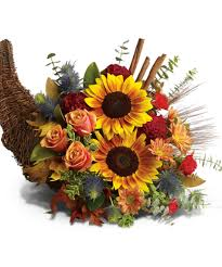 thanksgiving horn called bountiful cornucopia columbus fall flowers griffins floral
