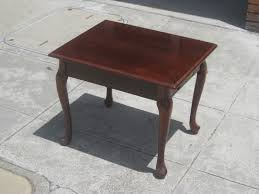queen anne end tables uhuru furniture collectibles sold square queen anne end table 55