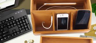 Electronic Desk Organizer Homex Bamboo Office Desk Organizer Homex