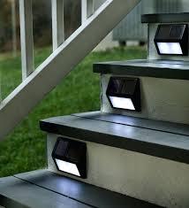 solar stair lights indoor outdoor step lights plow hearth solar step lights juno outdoor led