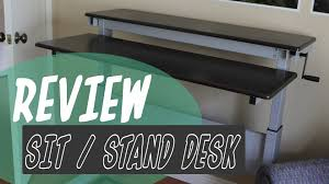 sit stand desk review from standupdeskstore com youtube