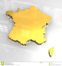 Map France by 3d Golden Map Of France Stock Photo Image 6959620