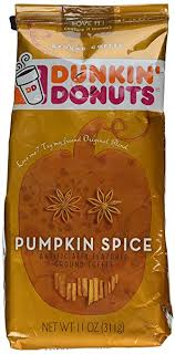 pumpkin spice for coffee amazon com dunkin donuts ground coffee pack of 2 pumpkin spice