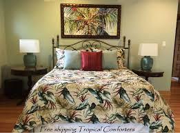 palm leaf bedding unique tropical comforter sets
