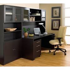 Corner Computer Desk With Hutch by Incredible Computer Desk With Hutch Black With Beech Effect Small