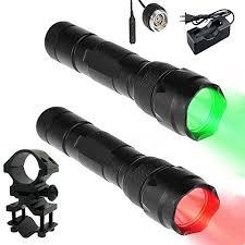 green light for hog hunting uniquefire 502b 100 yard red light green light led coyote hog