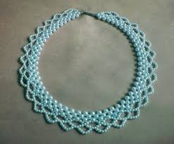 pearls beads necklace images Free pattern for necklace blue pearls beads magic jpg