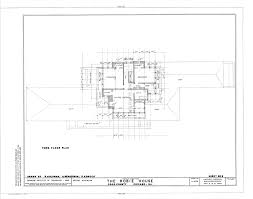 Robie House Floor Plan by File Frederick C Robie House 5757 Woodlawn Avenue Chicago Cook