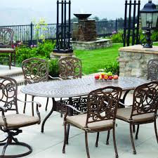 outdoor dining room furniture darlee florence 7 piece cast aluminum patio dining set with oval