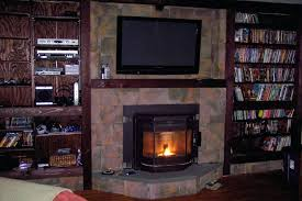 install wood burning stove insert how much to fireplace installing