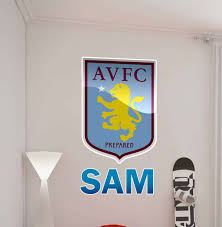 aston villa crest personalised wall decal
