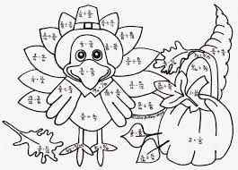 in thanksgiving color by number coloring pages