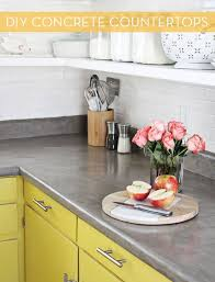 Diy Redo Kitchen Countertops - best 25 concrete countertops over laminate ideas on pinterest