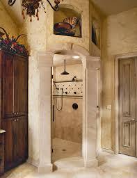 tuscan old world stone master shower traditional bathroom dallas