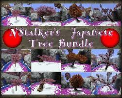 japanese tree schematic bundle 12 designs different sizes
