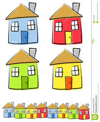 drawing houses childlike drawings of houses stock vector illustration of