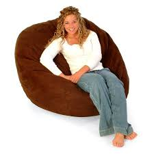 teen premier microsuede fuf foam lounger bean bag chair with liner