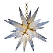 Rock Crystal Chandeliers Rock Crystal Star Chandelier By Alexandre Vossion For Sale At 1stdibs