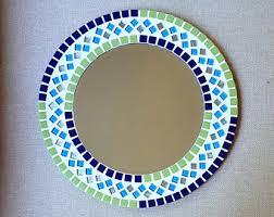 Mosaic Bathroom Mirrors by Mosaic Wall Mirror Teal Mirror Square Decorative Mirror