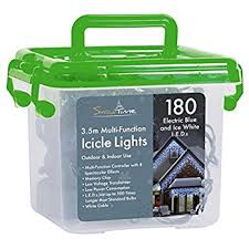 icicle lights 220 led bright white indoor outdoor
