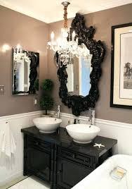 black framed mirrors ikea black frame around bathroom mirror black
