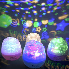 plug in projector night light novelty lighting romantic rotating colorful star moon sky projection