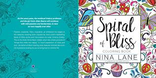 the spiral of bliss coloring book by nina lina u0026 illustrated by