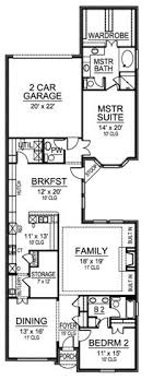 narrow lot 2 story house plans one story house plan with two bedrooms