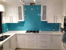 persian blue glass splashback with upstands splashbacks notch cut