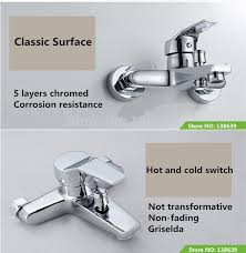 Bathroom Shower Set Mounted Shower Mixer Faucet Brass Chromed Bathroom Shower Set