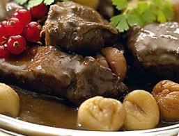 recette de cuisine civet de chevreuil civet de chevreuil aux châtaignes recette télépro