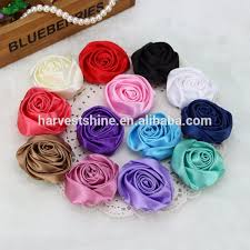 silk flowers bulk handmade satin ribbon fabric flowers brooch silk flowers bulk