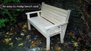 Plans For Making A Wooden Bench by Easy To Make Bench Seat Youtube