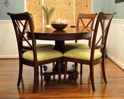 amazing wooden chairs using green printed cushions for small