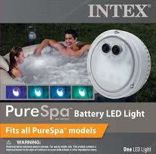 intex purespa battery multi colored led light for bubble spa