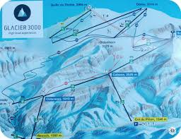 Alps On World Map by Les Diablerets The Glacier 3000 Ski Field In The Swiss Alps