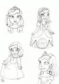princess sofia face coloring netart