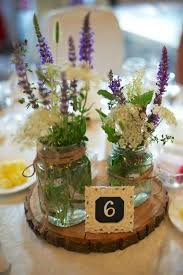 Rustic Center Pieces Wedding Table Centerpieces With Mason Jars 4074