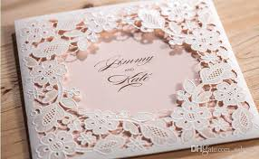 wedding invitations printing 2017 hollow white flowers wedding invitations card free customized